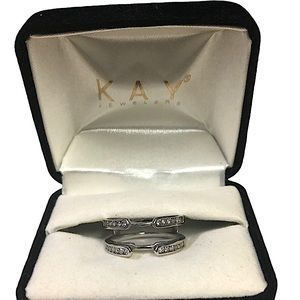 14k White Gold Engagement Ring Enhancer, Size 7